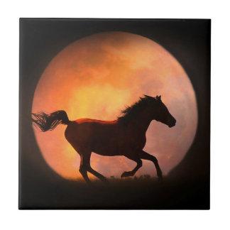 Racing the Moon Horse Art Tile