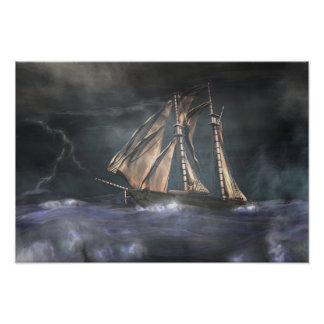 Racing  the storm photographic print