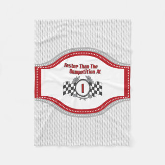 Racing Themed 1st Birthday Fleece Blanket