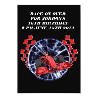 Racing through lightning 13 cm x 18 cm invitation card