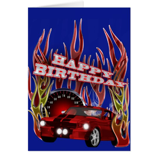 Racing to another birthday card