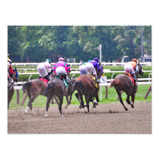 Racing to the Finish Line at Saratoga Photograph