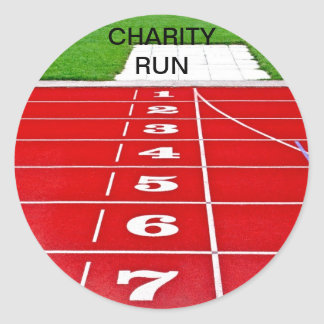 Racing Track Charity Run Stickers