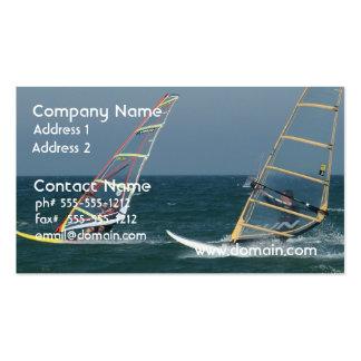 Racing Windsurfers Business Card