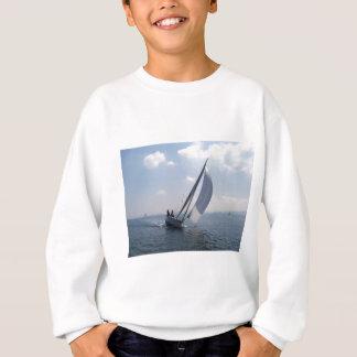 Racing yacht at speed. sweatshirt