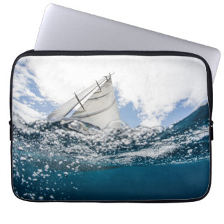 Racing Yacht At The Americas Cup Race Laptop Sleeve