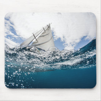 Racing Yacht At The Americas Cup Race Mouse Mat