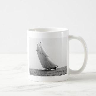 Racing Yacht Atlantic, 1904 Basic White Mug