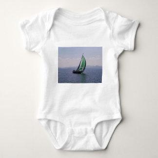 Racing yacht. baby bodysuit