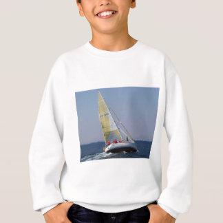 Racing yacht from behind. sweatshirt