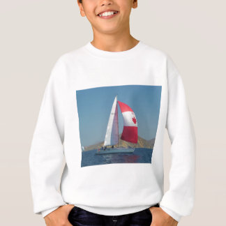 Racing Yacht With Canadian Spinnaker Sweatshirt