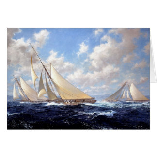 Racing yachts in a bit of a swell card
