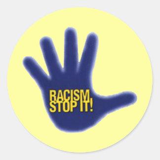 RACISM CLASSIC ROUND STICKER