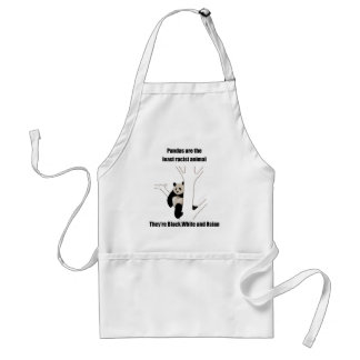 Racist panda standard apron