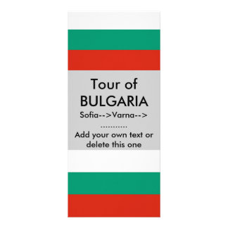 Rack Card with Flag of Bulgaria