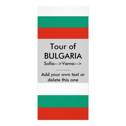 Rack Card with Flag of Bulgaria