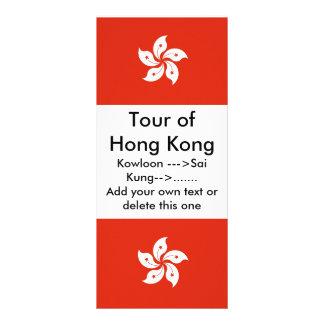 Rack Card with Flag of Hong Kong China
