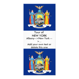 Rack Card with Flag of New York U S A