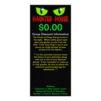 """Rack Cards - """"Haunted House"""" - Red Lettering"""