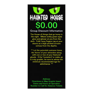 """Rack Cards - """"Haunted House"""" - White Lettering"""