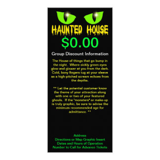 """Rack Cards - """"Haunted House"""" - Yellow Lettering"""