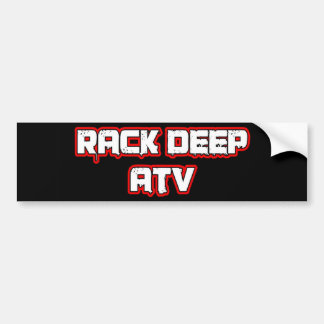 Rack Deep Atv Apparel & Accesories Bumper Sticker