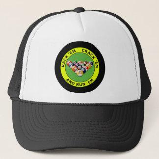 RACK 'EM - CRACK 'EM AND RUN 'EM TRUCKER HAT