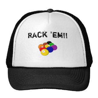 Rack 'em!! Pool Ball Cap