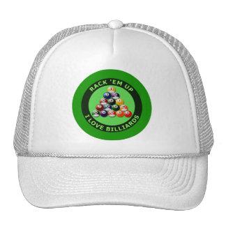 RACK 'EM UP - I LOVE BILLIARDS CAP