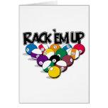 Rack Em Up Pool Greeting Card