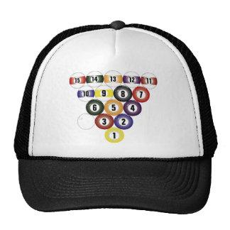 Rack of Sixteen Billiard Balls Trucker Hat