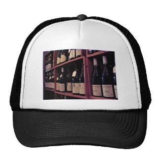 Rack of wine bottles cap