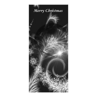 Rackcards Christmas black white stars Personalized Rack Card