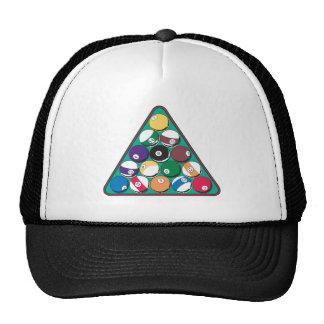Racked Billiard Balls Mesh Hats