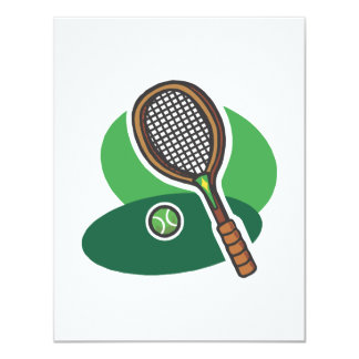 Racket & Ball 11 Cm X 14 Cm Invitation Card