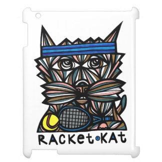 """Racket Kat"" 631 Art iPad Case"