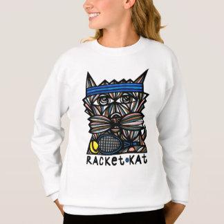 """""""Racket Kat"""" Girls' Sweatshirt"""