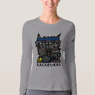 """Racket Kat"" Workout NB Long Sleeve T-Shirt"