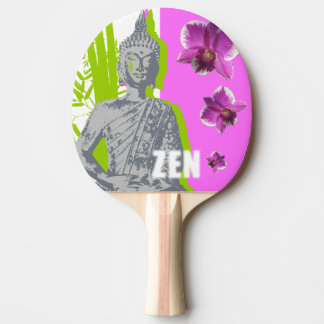 Racket of Ping Pong, red Rubber Back ZEN