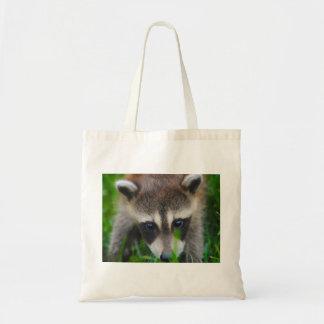 racoon budget tote bag