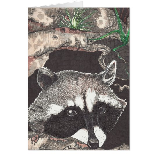 Racoon Card