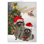 Racoon Christmas A Time For Fun Cards