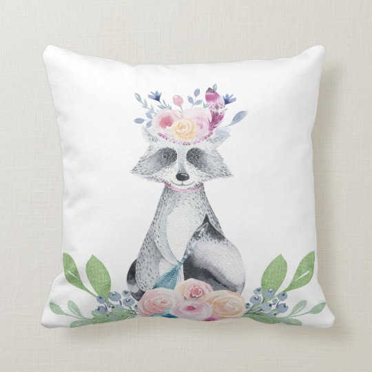 Racoon Couch Pillow