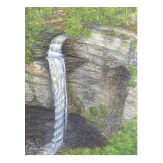 Racoon Creek Falls Waterfall Postcard