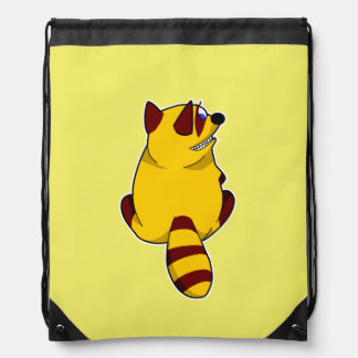 Racoon Drawstring Backpack