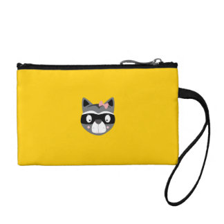 Racoon female coin wallet