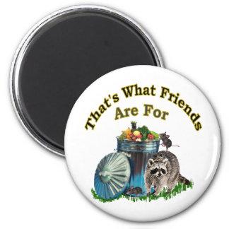 Racoon Friends 6 Cm Round Magnet