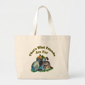Racoon Friends Canvas Bag