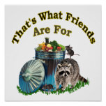 Racoon Friends Poster