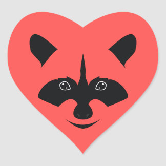 Racoon Heart Sticker